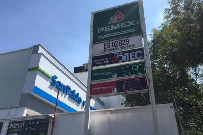 En una gasolinera en Iztapalapa se vendió gasolina a estos precios
