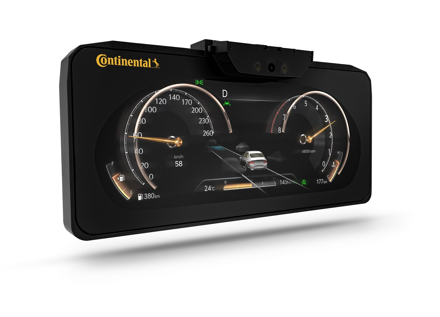 Continental panel de instrumentos en 3D