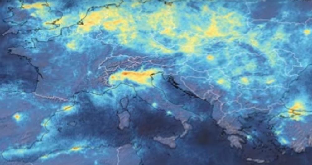 Imágenes del satélite Copernicus durante el mes de marzo