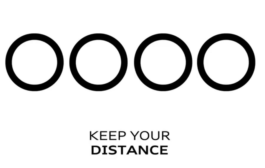 Audi logo distanciamiento social