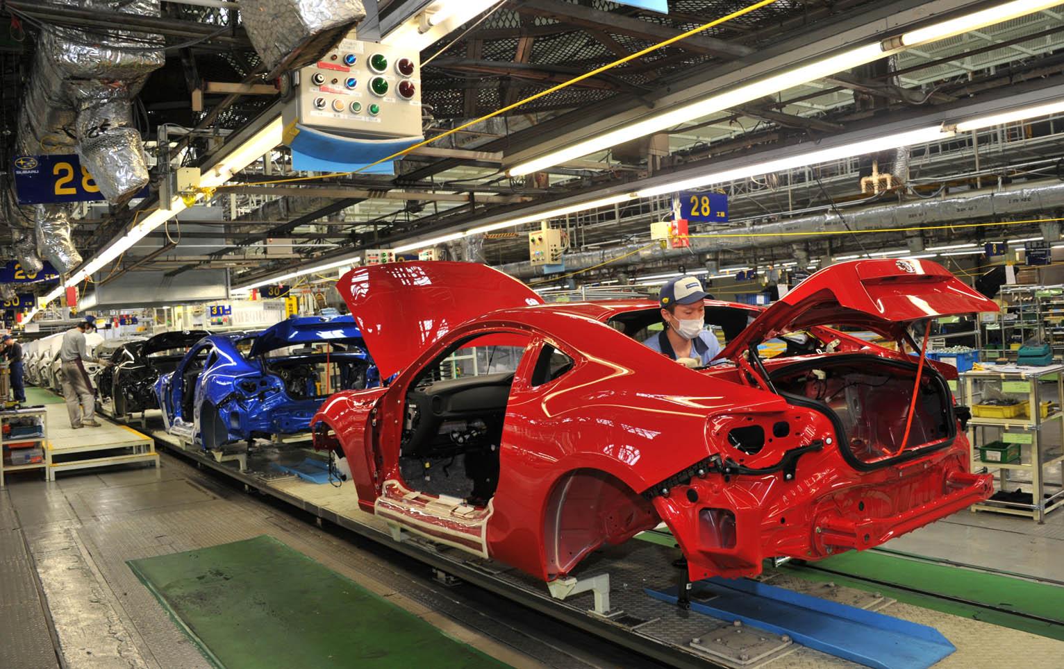 Las fábricas se Subaru suspenderán su producción