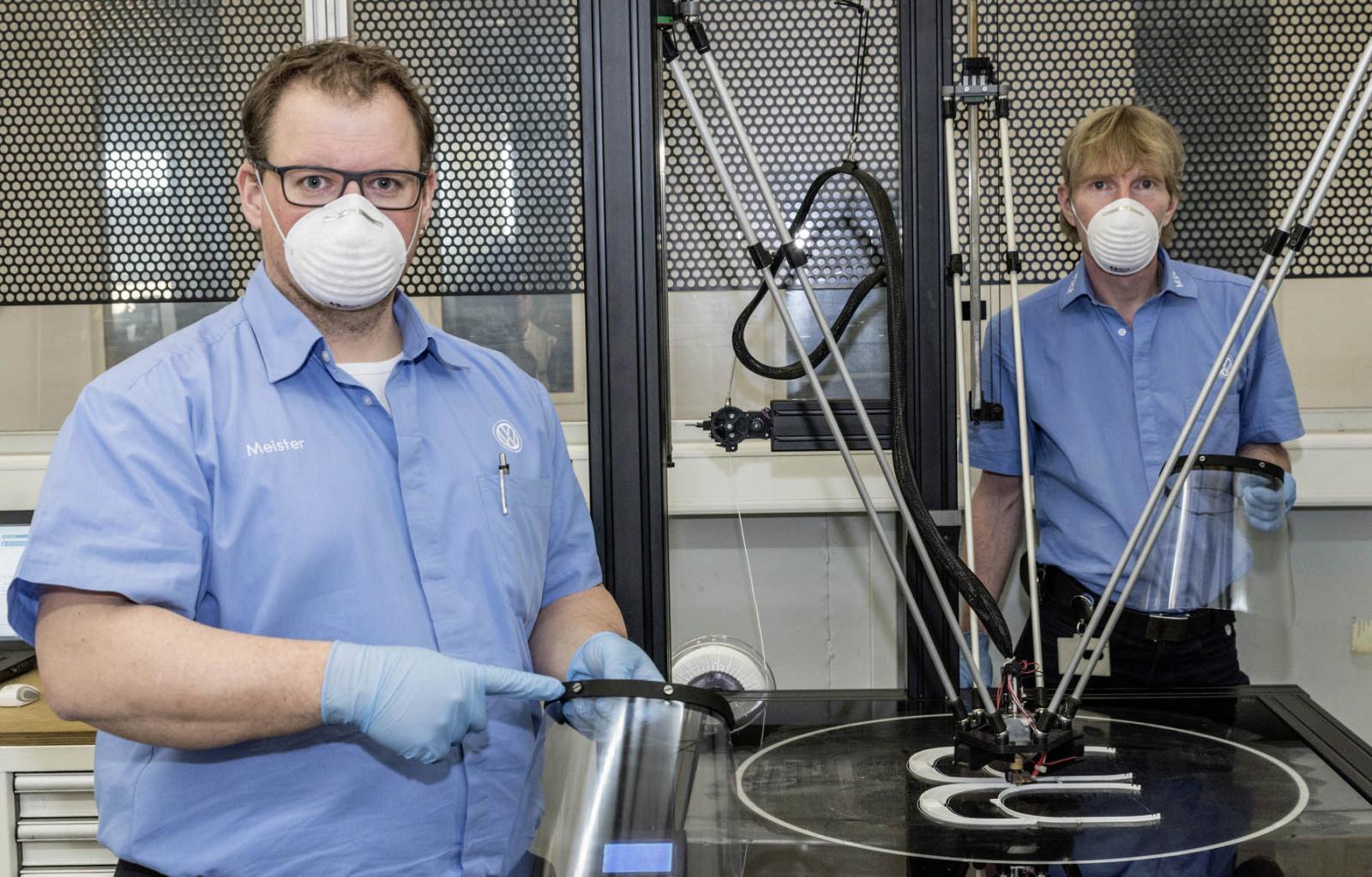 La impresión 3D de Volkswagen se pone a disposición de la salud