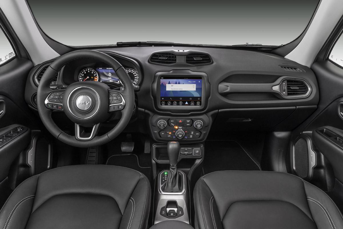 El interior de la Jeep Renegade Limited 2020 resena opiniones es lujoso