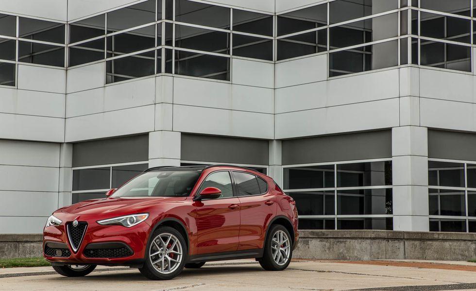 Frente de la Alfa Romeo Stelvio 2019