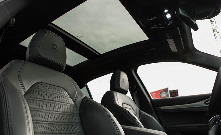Vista panorámica desde el interior de la Stelvio 2019