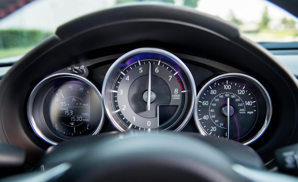 Interior del Mazda MX-5