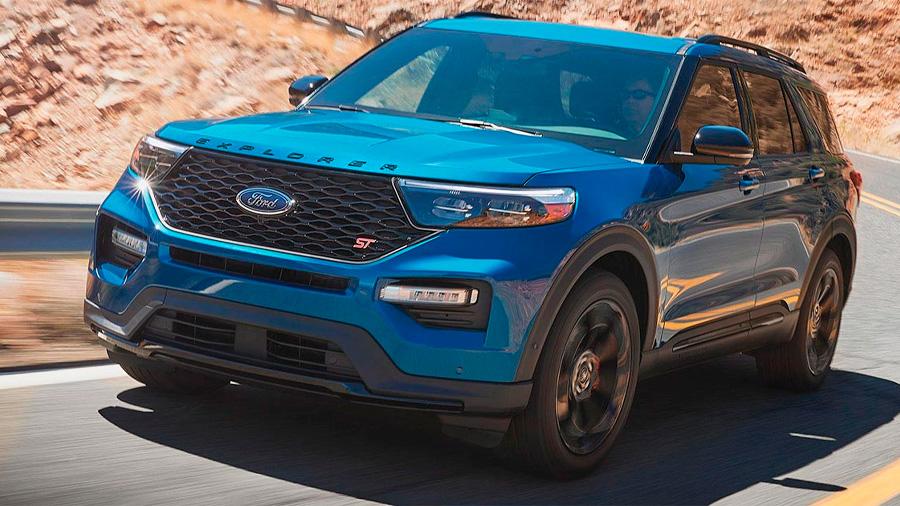 Ford Explorer ST 2020 resena opiniones Incorpora rines de aluminio maquinado, los cuales le dan un aspecto más agresivo