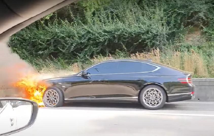 Genesis G80 incendiado