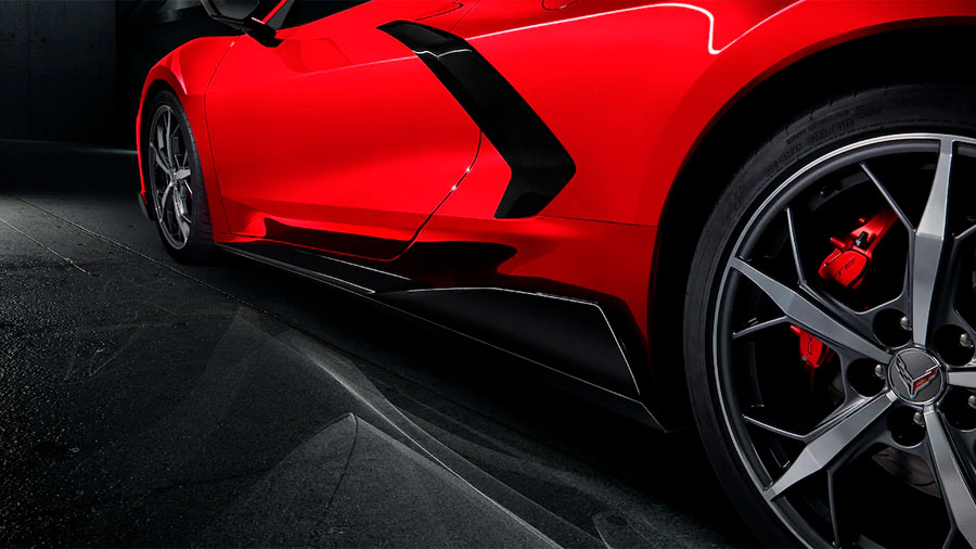Podremos optar por montar calipers en color rojo o amarillo Chevrolet Corvette Z51 Coupe Performance Package 2020 resena opiniones