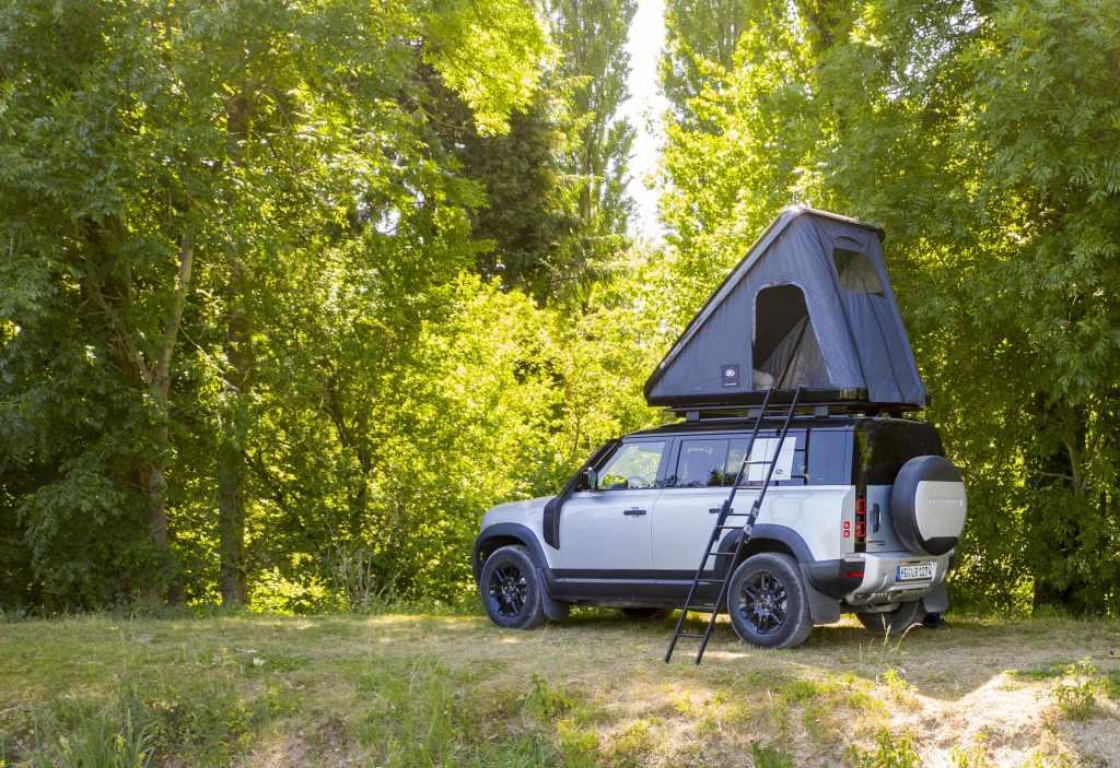 Land Rover diseña una tienda de campaña para la nueva Defender