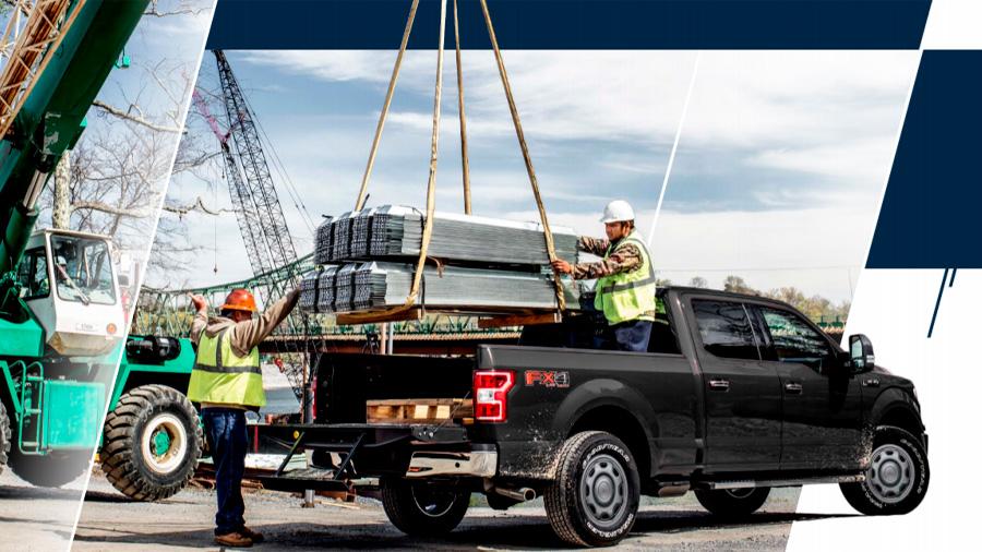 Es una camioneta que proyecta resistencia para el trabajo pesado