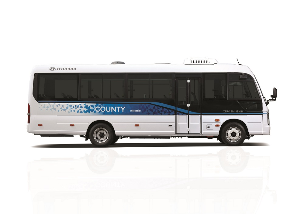 Hyundai lanzó el County Electric, su primer minibús eléctrico