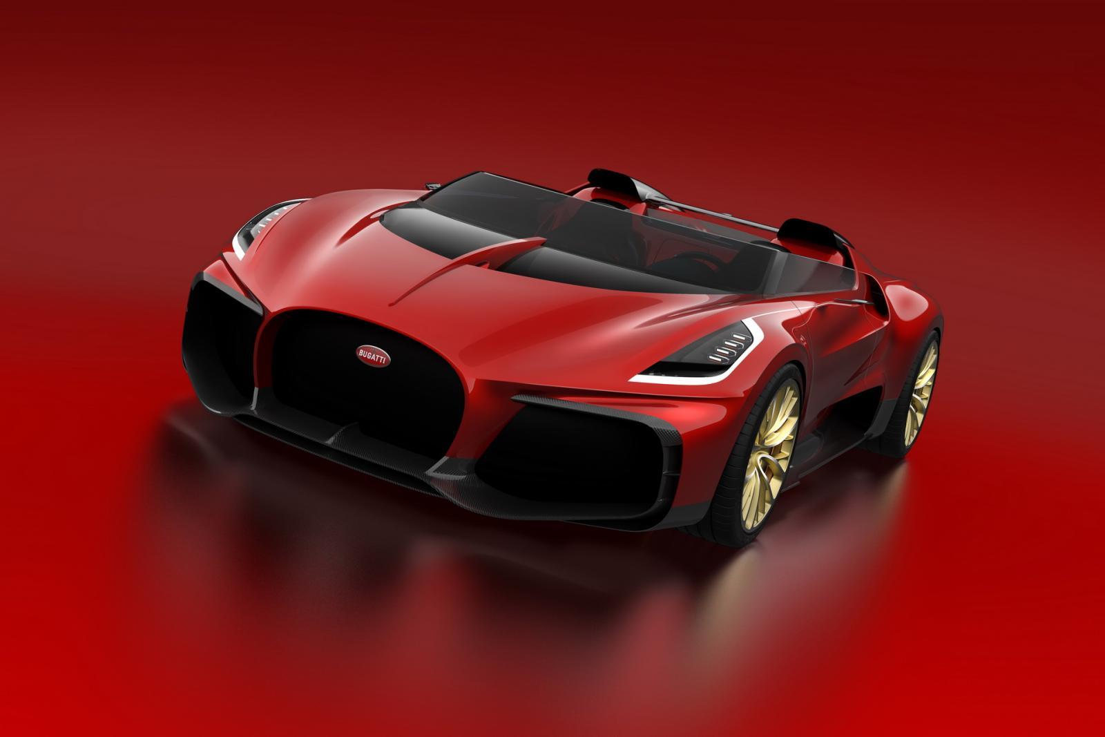 Bugatti Chiron Barchetta Speedster Concept