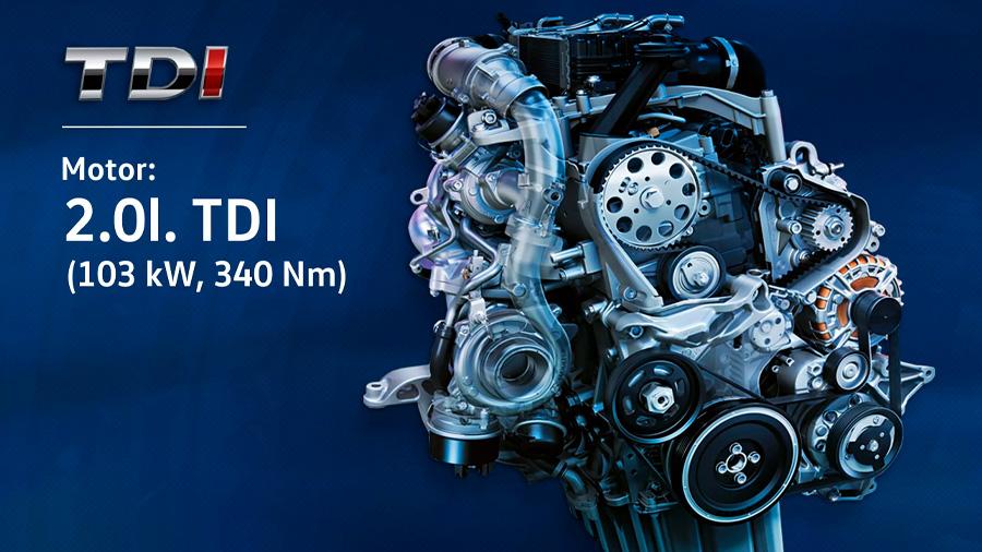 El motor diésel 4 cilindros promete un buen rendimiento de combustible