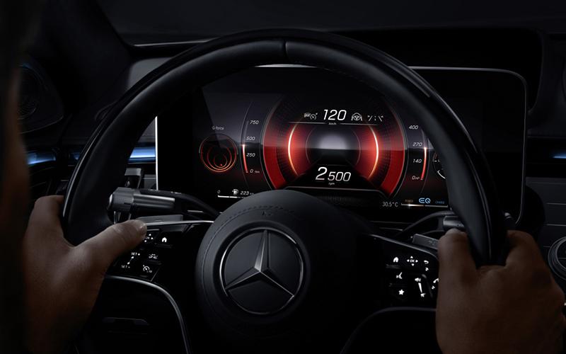 Mercedes-Benz Clase S 2021 pantalla 3D