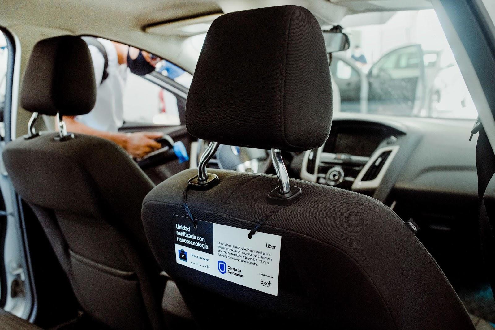 Los conductores de Uber podrán llevar sus unidades a sanitizar