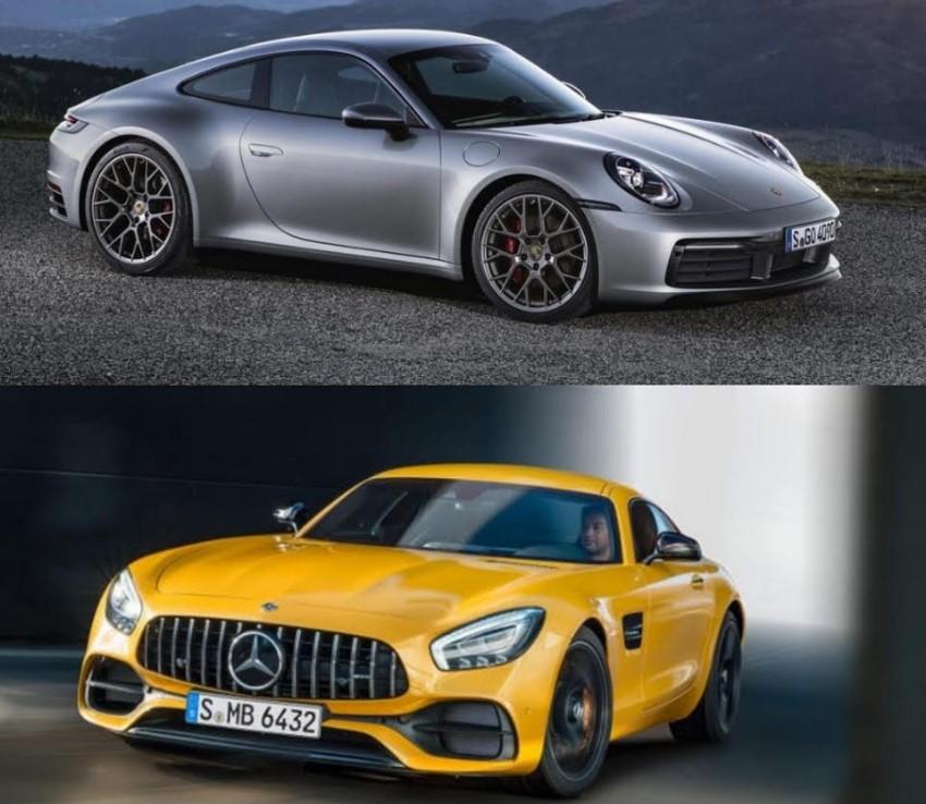 Porsche 911 Carrera S 2020 vs Mercedes-AMG GT Coupé 2020