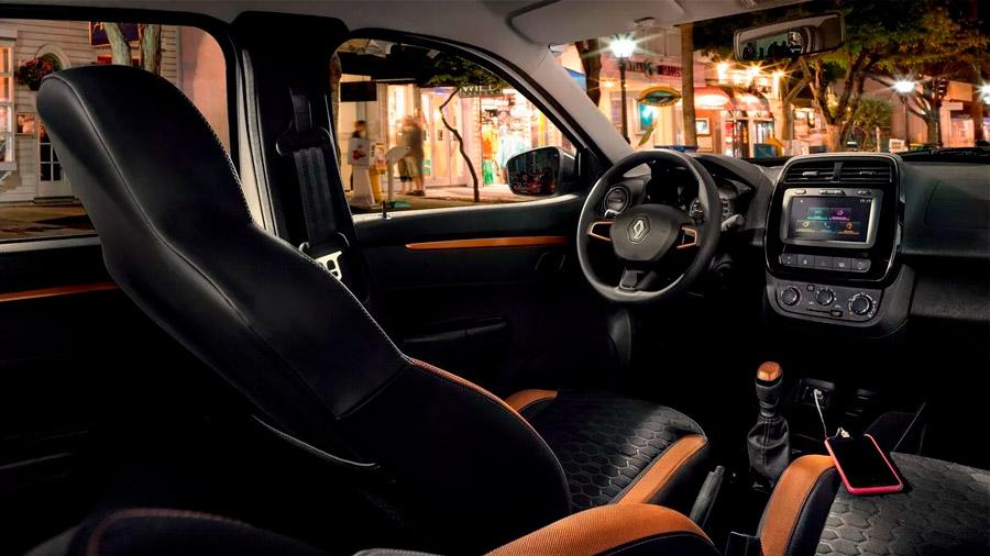 Los asientos Renault Kwid precio mexico tienen vestiduras de tela