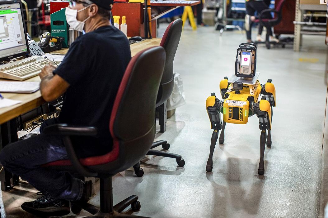 Video: Fluffy, el robot de cuatro patas que trabaja para Ford