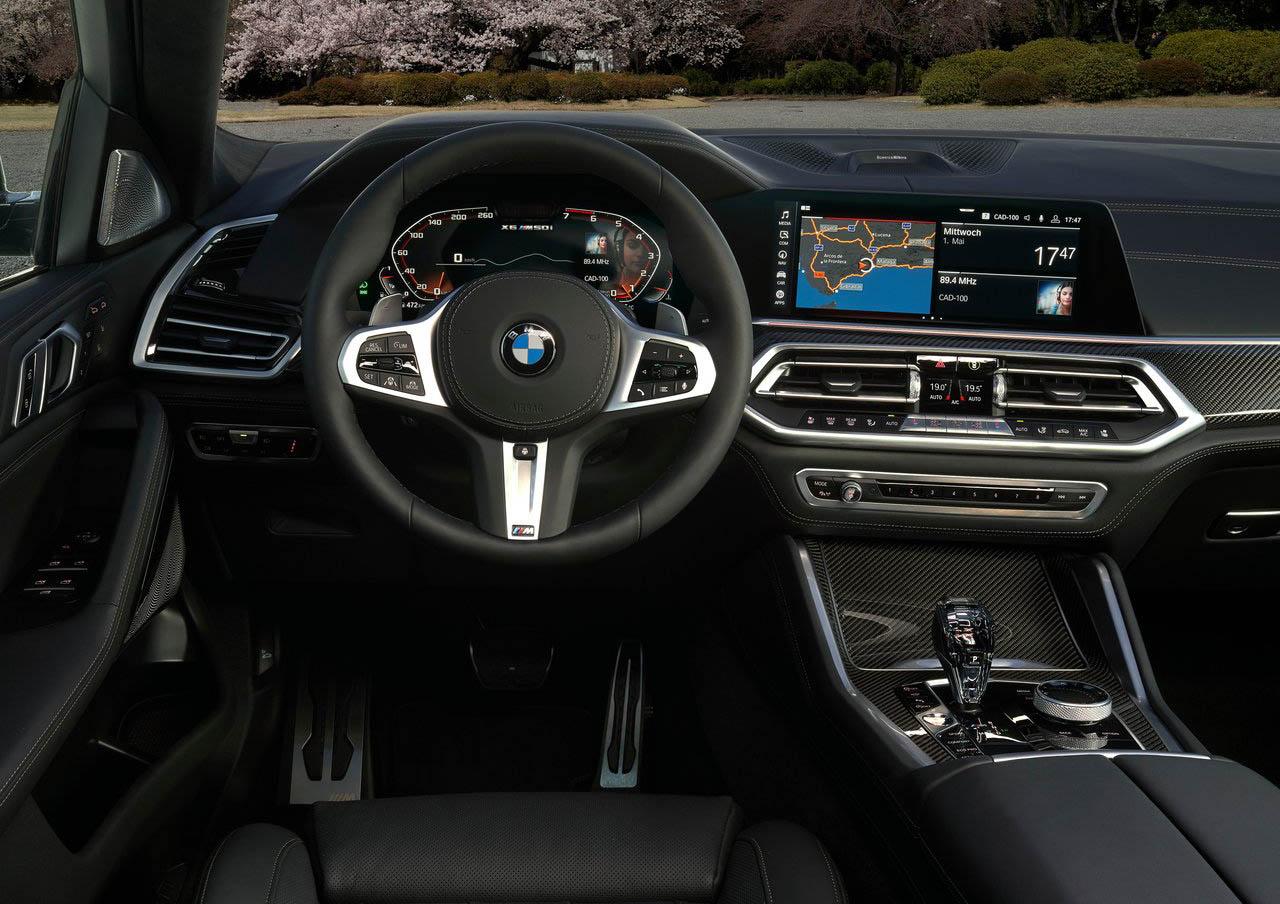 La BMW X6 M50i tiene buen equipamiento tecnológico