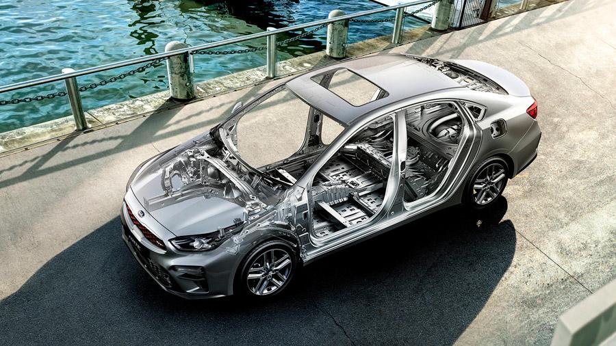 El Kia Forte GT Sedán 2021 tampoco decepciona en el apartado de seguridad