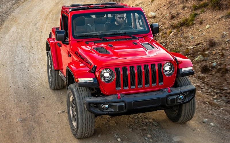 Jeep Wrangler rojo