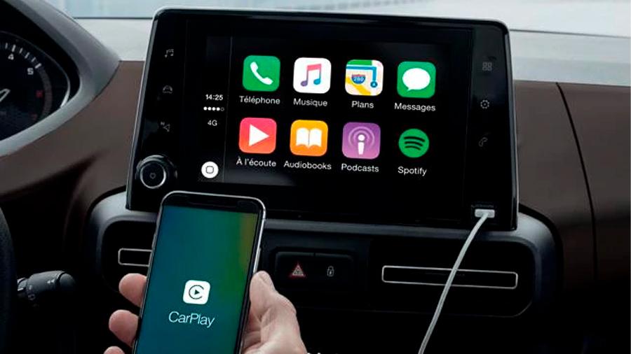 Es compatible con Apple CarPlay y Android Auto