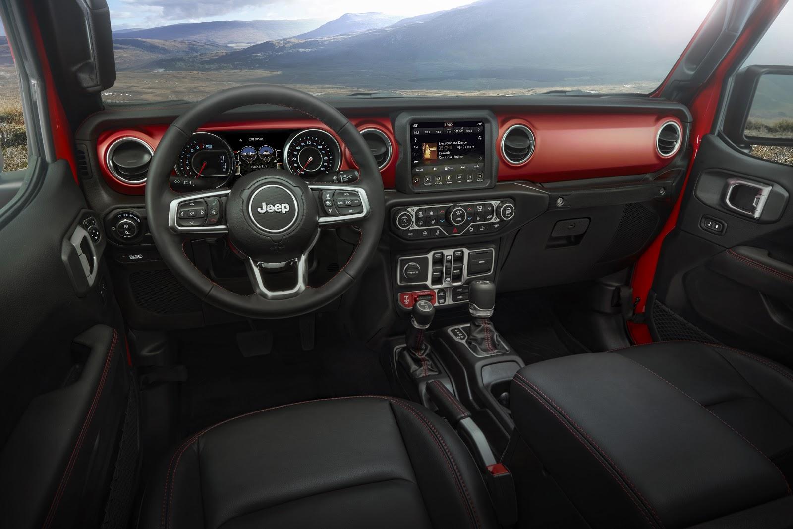 Jeep Gladiator interior