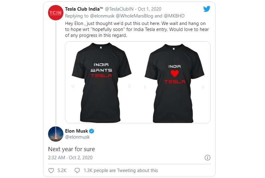 Tuit Elon Musk