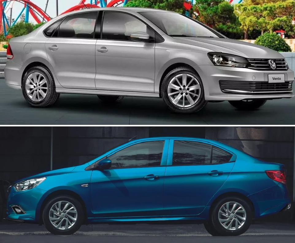 Volkswagen Vento Comfortline Plus 2020 Chevrolet Aveo LT 2020 Comparativa