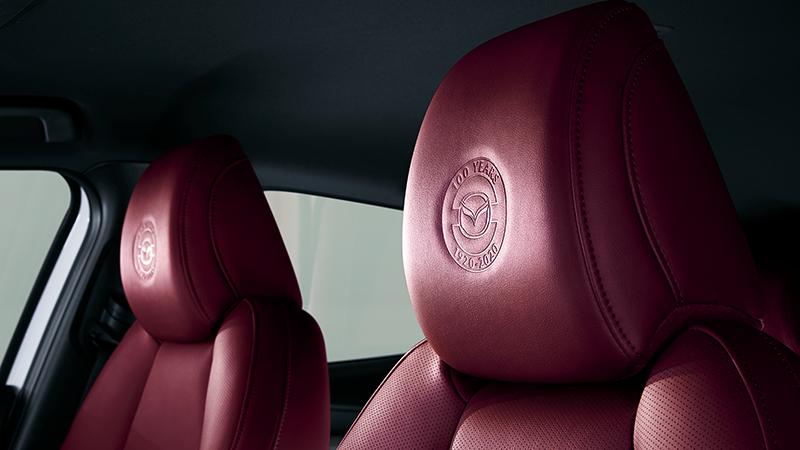 Mazda 100 aniversario interior tapiceria