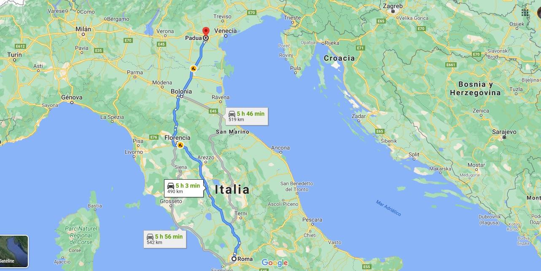 Ruta Roma a Padua
