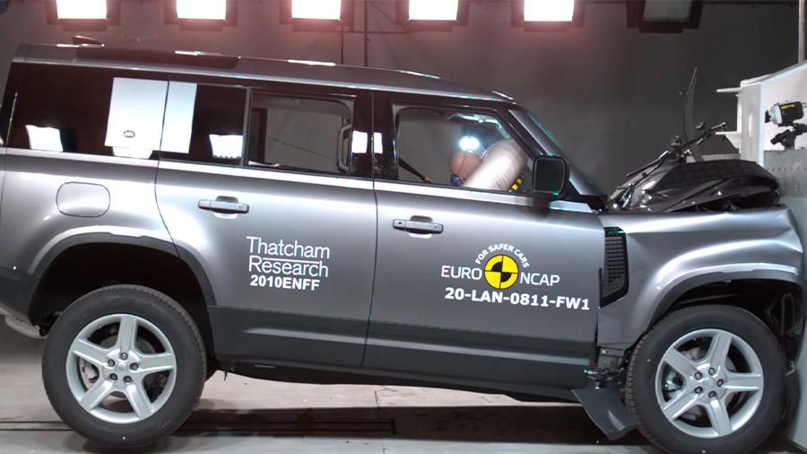 La Land Rover Defender salió bien evaluada en las pruebas del Euro NCAP