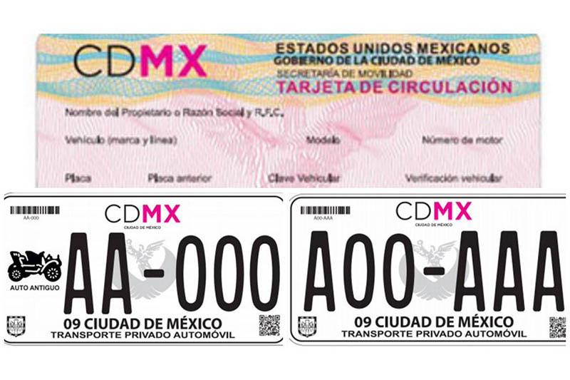 Cambio de placas CDMX: Placas y tarjeta de circulación CDMX