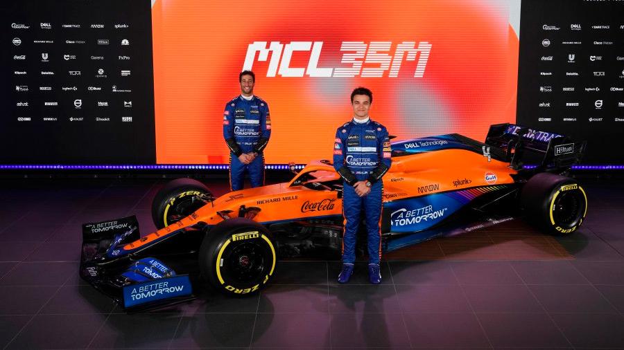 Lando Norris y Daniel Ricciardo son la dupla de McLaren para esta temporada
