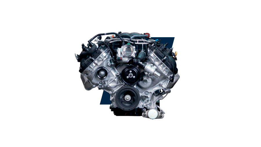 El motor V8 de 5.0 litros es exclusivo de esta versión