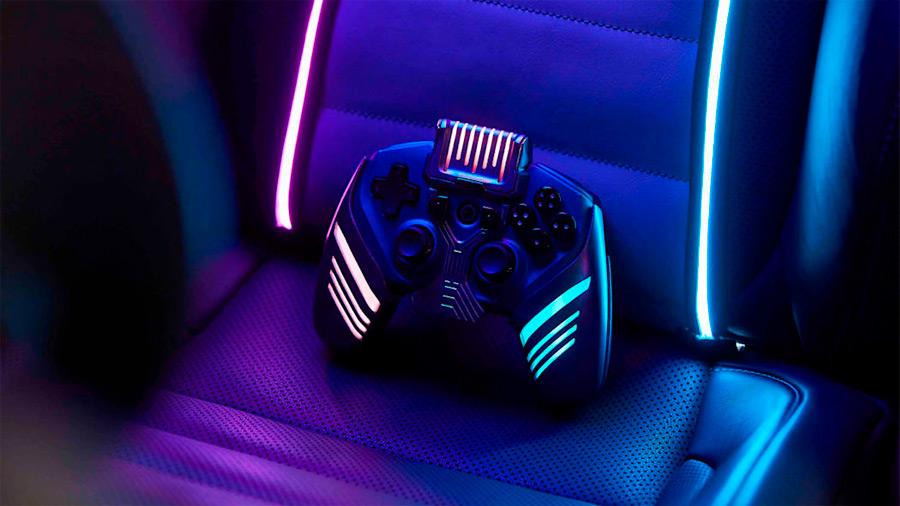 Incluye un control que se fabricó mediante impresión 3D