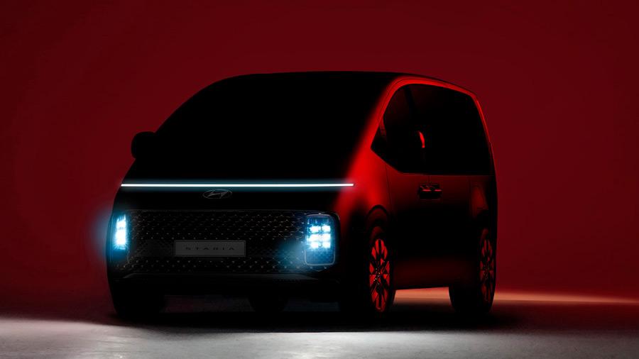 La marca liberó las primeras imágenes de su futura minivan: la Hyundai Staria