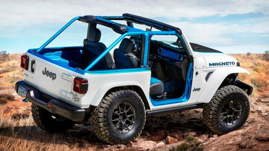 La Jeep Wrangler Magneto Concept lleva un kit de elevación