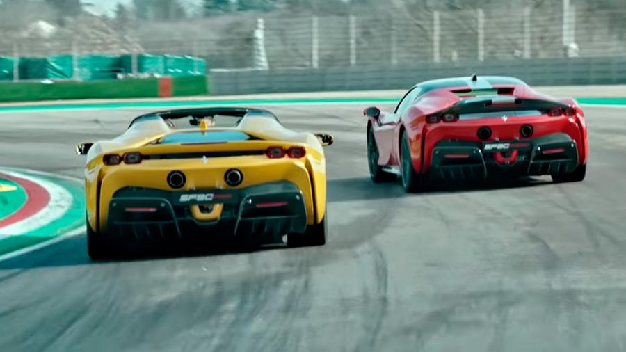 El ejercicio a bordo del Ferrari SF90 Stradale se llevó a cabo en el Circuito de Imola