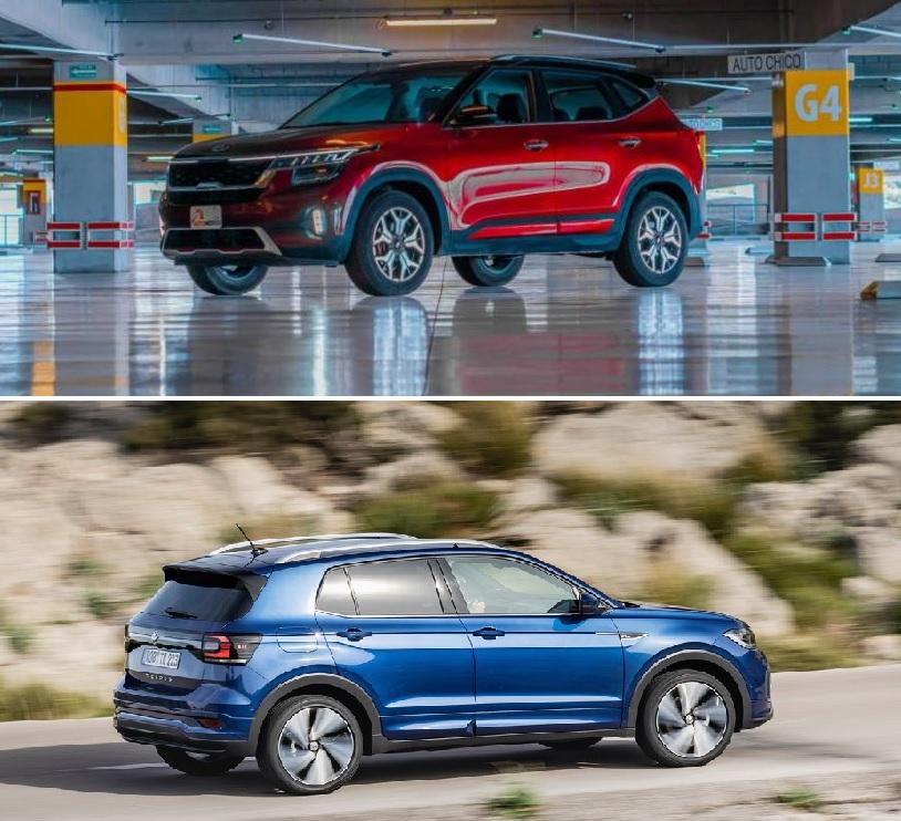 Kia Seltos SX 2021 Volkswagen T-Cross Highline 2021 comparativa