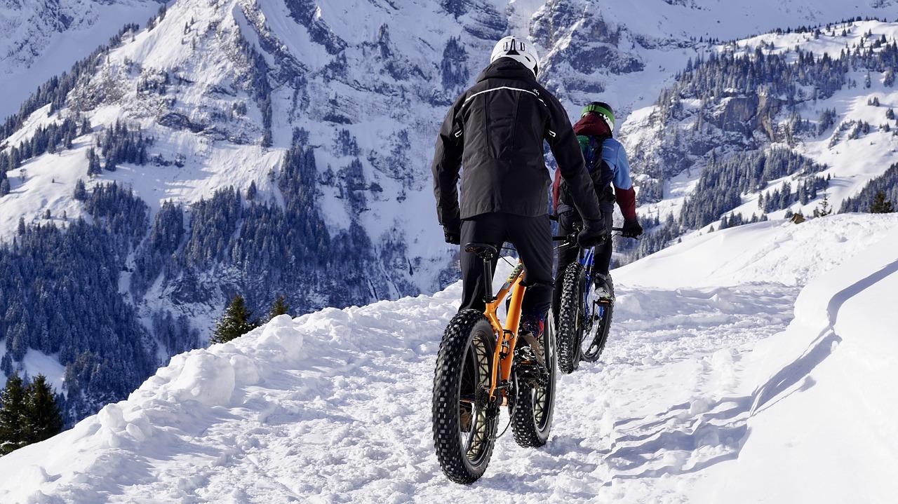 bicicleta en nieve