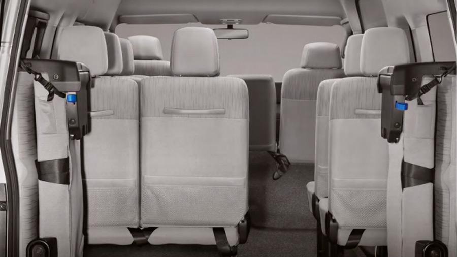 La última fila de asientos se puede plegar para ganar espacio de carga