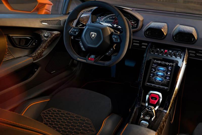 palanca de velocidades - Lamborghini Huracán EVO interior
