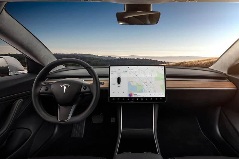 palanca de velocidades - Tesla model 3 interior