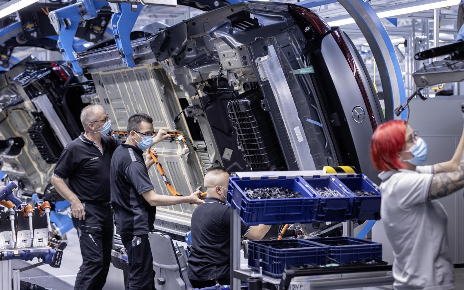 Mercedes-Benz EQS producción