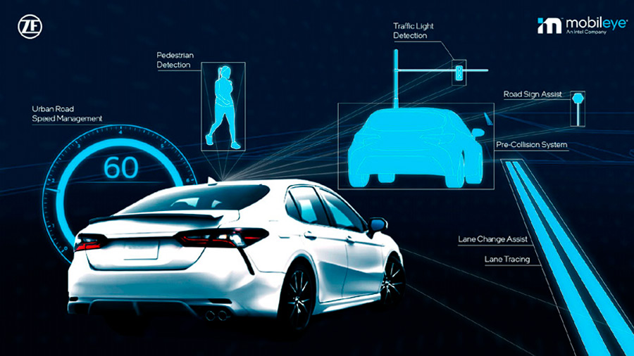Toyota eligió como socios a ZF y Mobileye por su experiencia en el sector