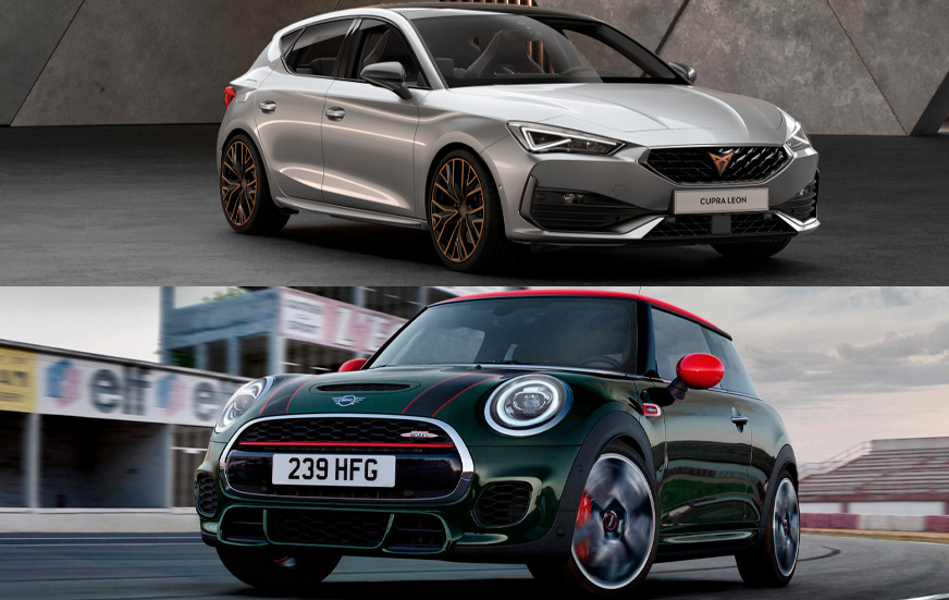 Un rival de alto vuelvo para el Cupra León precio es el Mini Cooper, pero específicamente la versión John Cooper Works