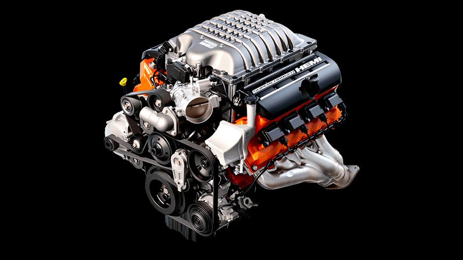 El motor del Dodge Charger Widebody SRT 2021 ofrece hasta 707 caballos de fuerza