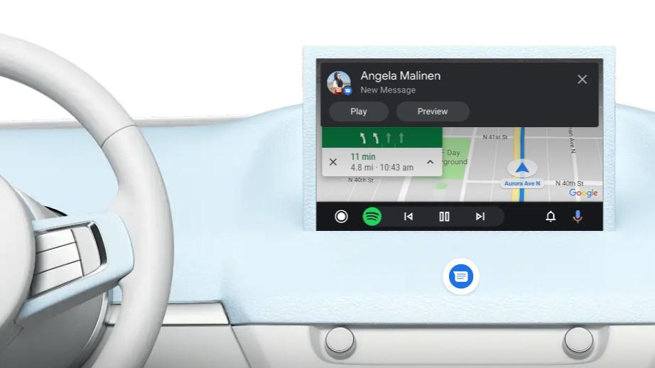 Mensajería Android Auto